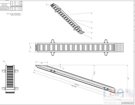 GKA AM 250-4000.25100Сборка аппарель 2.5м 250мм